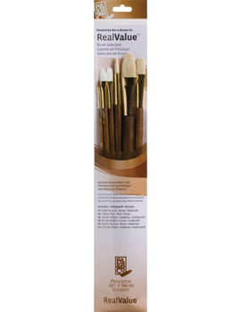 Real Value Long Handle Brush Sets 6 Brush Combination Set for All Mediums