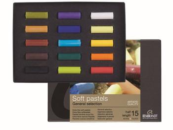 Rembrandt Soft Pastel Sets, 15 Half Sticks