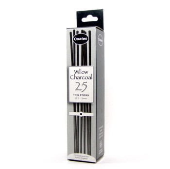 P.H. Coates Willow Charcoal, 25 thin