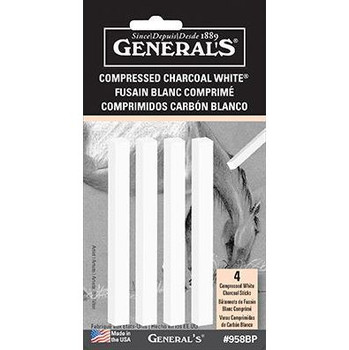 Compressed Charcoal Sets White