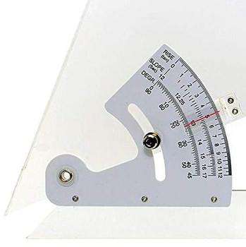 "Adjustable Acrylic Triangle, 8"" Triangle, detail"