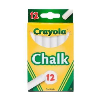 Crayola Chalk, White, 12 Sticks