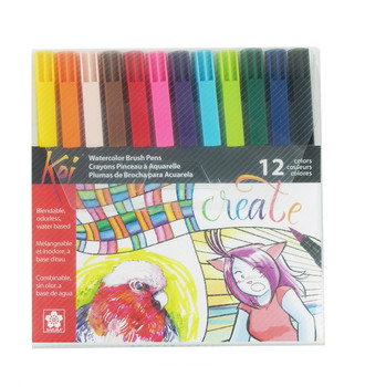 Sakura Koi Coloring Brush Pen Set of 12