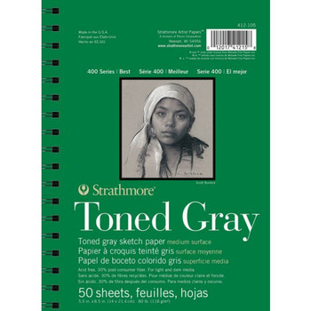 Strathmore 400 Series Toned Gray Sketch Pad