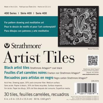 "Black Artist Tiles Pad 6"" x 6"""
