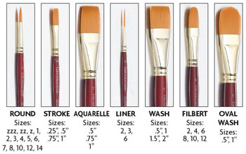 Grumbacher Goldenedge Aquarelle Watercolor Brush Synthetic Bristles Size 3//4/""