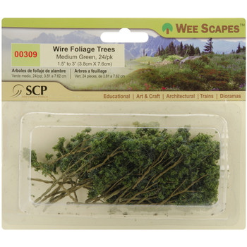 Wee Scapes Wire Foliage Trees, Medium Green