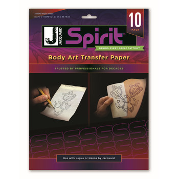 Body Art Transfer Paper, 10 pack