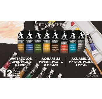 Academy Watercolor Set, 12 colors