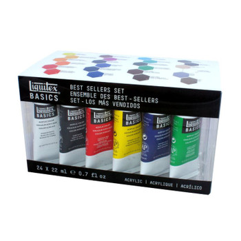 Liquitex BASICS Acrylics Best Selling Set of 24 Colors