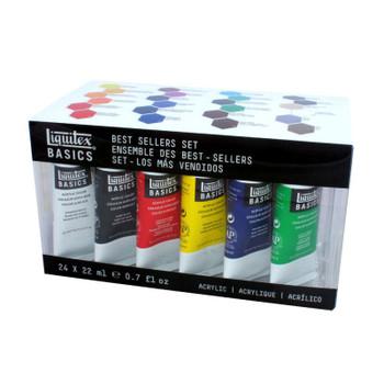 Liquitex BASICS Acrylics Best Selling Set of 24 Colors
