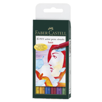 Pitt Artist Pens, Brush Set of 6