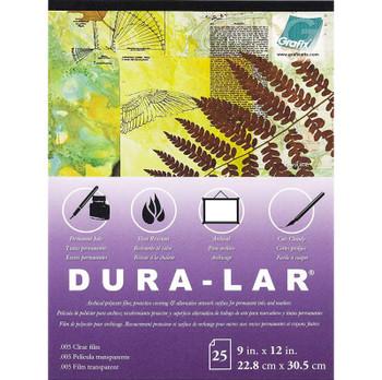 "Dura-Lar Pads, 9"" x 12"", Clear"
