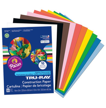Construction Paper, 50 pack