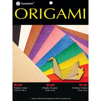 Origami Paper Pack, Kraft Colors