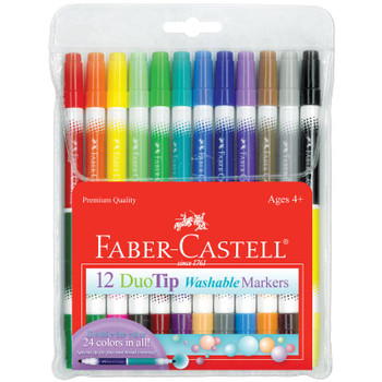 DuoTip Washable Marker, Set of 12