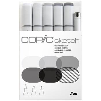 Copic Sketch Marker Set, Sketching Grays