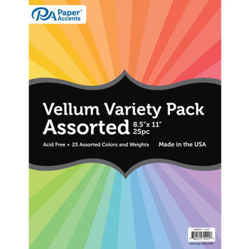 Vellum Variety Pack, 25 sheets