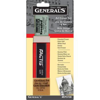 General's Art Eraser Set of 3