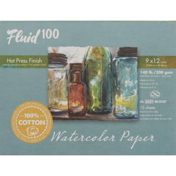 Fluid 100 Watercolor Blocks, Hot Press