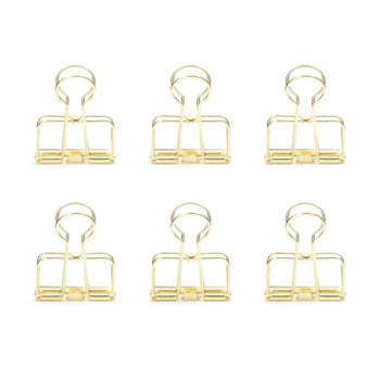 Gold Wire Clips, Set of 6