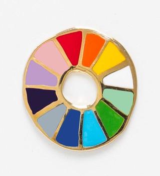 Color Wheel Lapel Pin