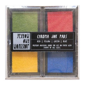 Chroma Ink Pads - Red, Yellow, Green, Blue