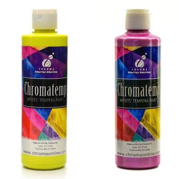 Chromatemp Artists' Tempera, Fluorescent & Pearlescent