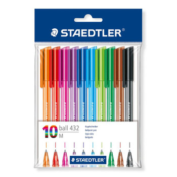 Staedtler 10 Color Ballpoint Pen Set