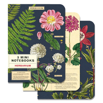 Mini Notebooks Set, Herbarium