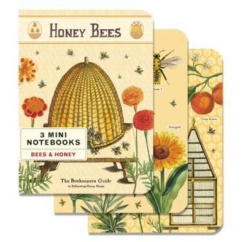 Mini Notebooks Set, Honey Bees