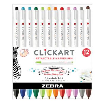 ClickArt Retractable Marker Pen Set