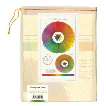 Vintage Tea Towel Color Wheel