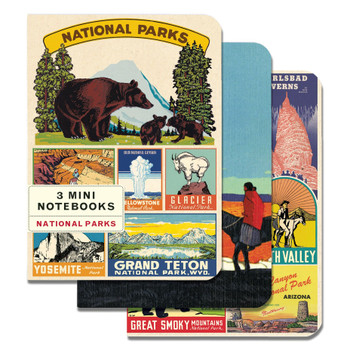 Mini Notebooks Set, National Parks