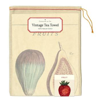 Vintage Tea Towel, Fruits