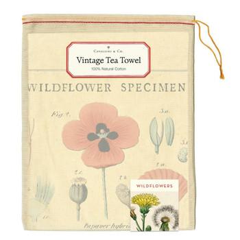Vintage Tea Towel, Wildflowers
