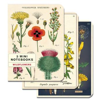Mini Notebooks Set, Wildflowers