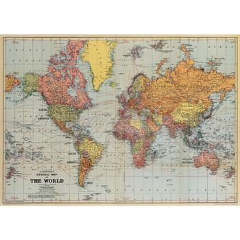 Cavallini Paper, World Map 20x28