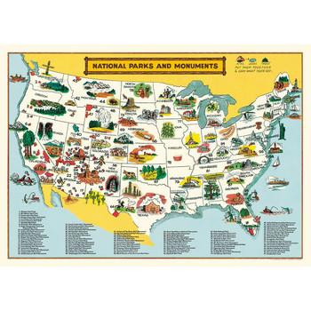 Cavallini Paper, National Parks Map 20x28