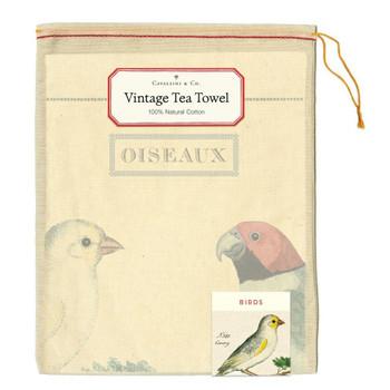 Vintage Tea Towel, Birds