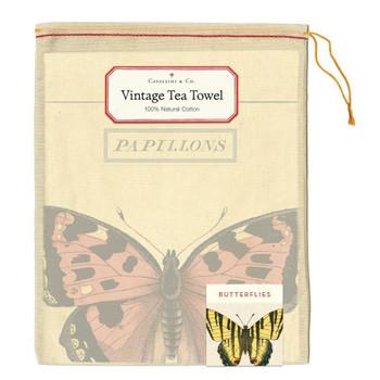 Vintage Tea Towel, Butterflies