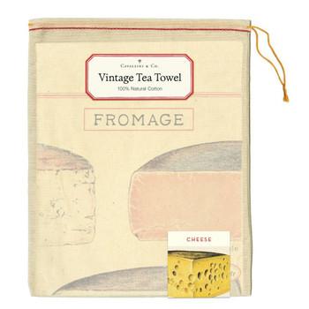 Vintage Tea Towel, Cheese