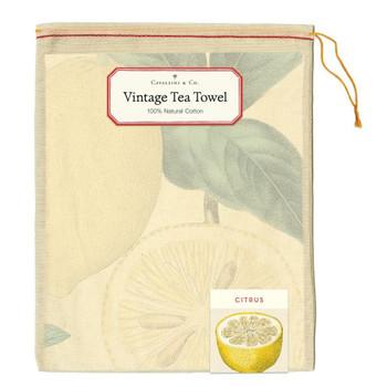 Vintage Tea Towel, Citrus