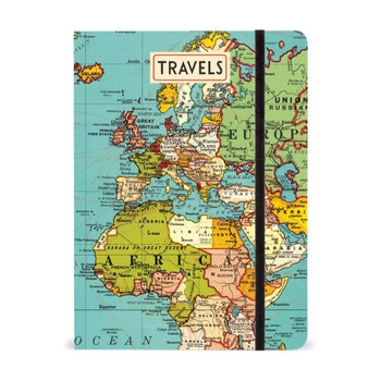 """Vintage Map Notebook, 6"""" x 8"""""""