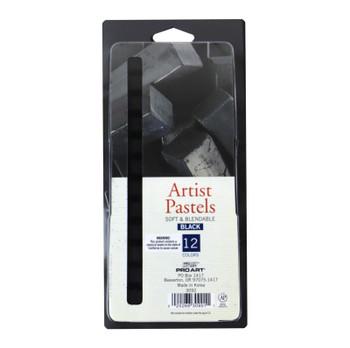 Artist Pastels, Black Set of 12