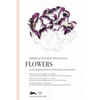 Drawing & Coloring Practice Book, Flowers