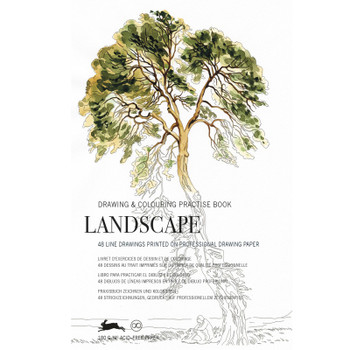 Drawing & Coloring Practice Book, Landscape