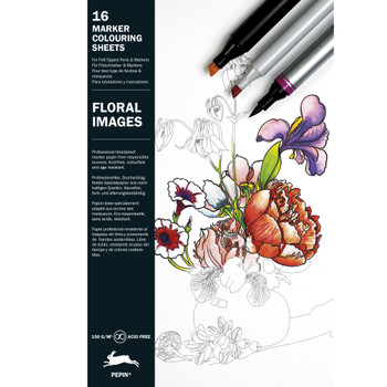 Marker Coloring Book, Floral