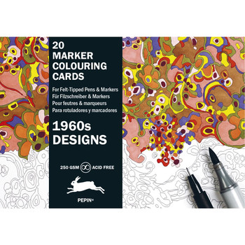 Marker Coloring Cards, 1960s Design