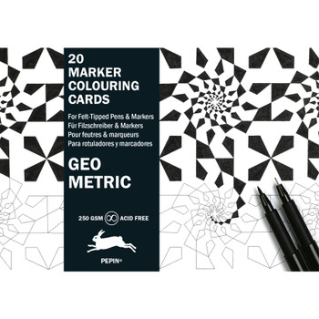 Marker Coloring Cards, Geometric